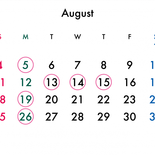 8月のお盆休みについて